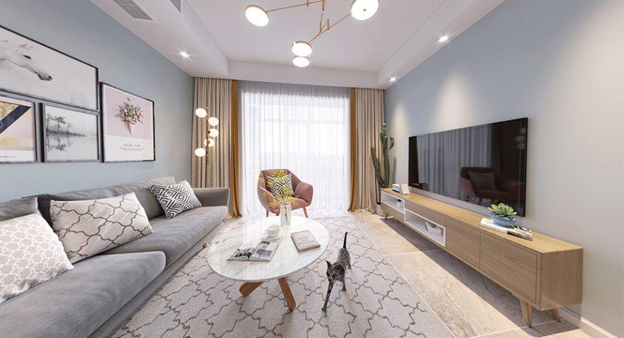 襄阳九街十八巷110平米三室两厅北欧风格装修案例,清新简约,温馨舒适!