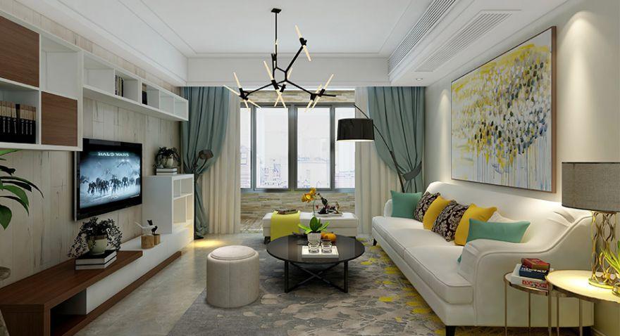 襄阳国色天襄130平三室两厅北欧风格设计,摒弃繁华,回归自然生活本质!