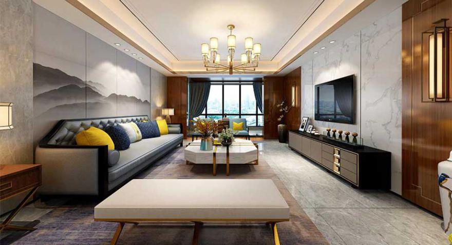 襄阳九街十八巷200平米新中式风格装修,内敛轻奢,韵味十足!
