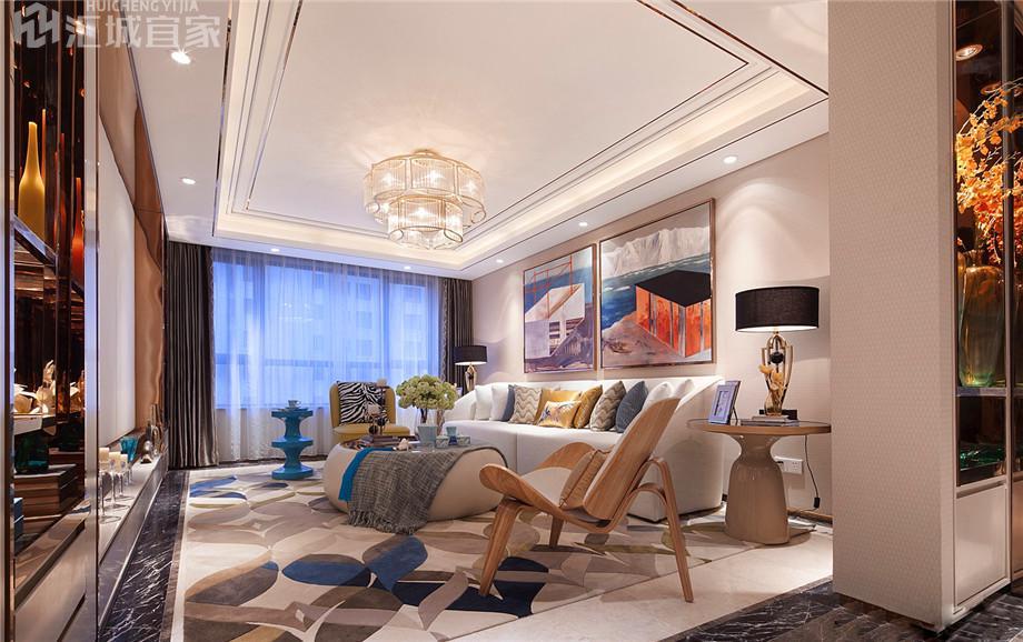 绵阳桃花岛家装案例-法式风格装修80平米