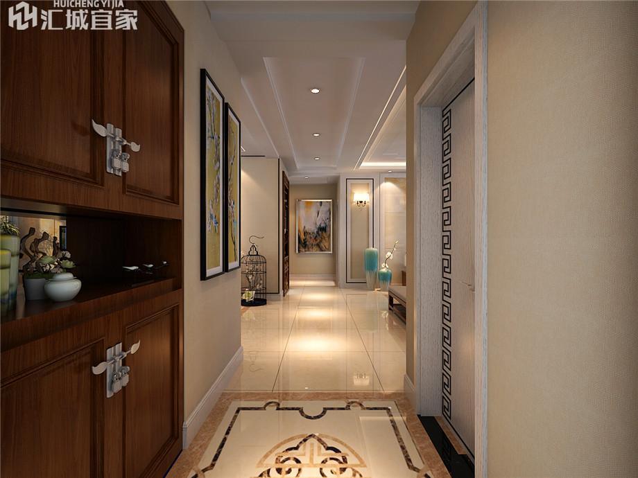绵阳九洲又一城家装案例-新中式风格装修120平米