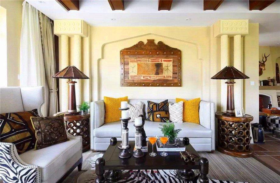 绵阳春晖花园家装案例-东南亚异域风情160平