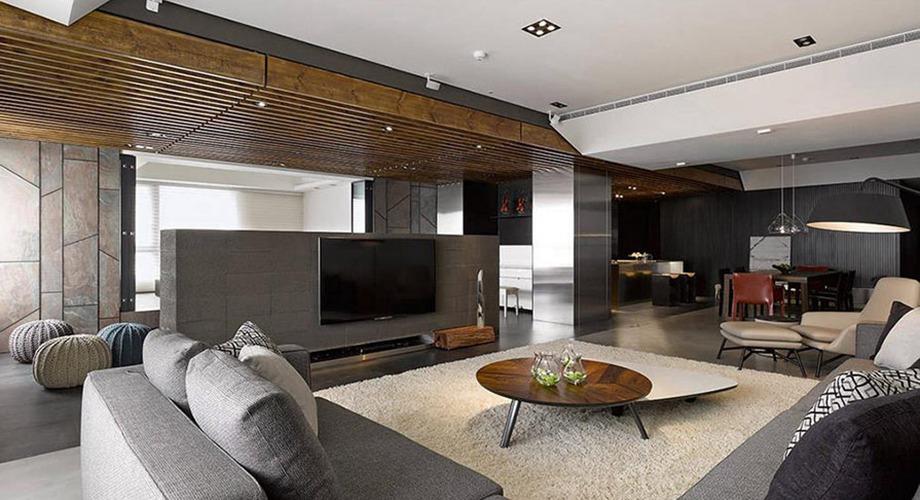 现代简约  三居室-2