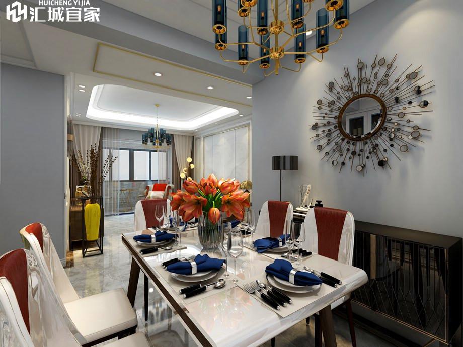 绵阳文泉理想城邦家装案例-现代风格110平米