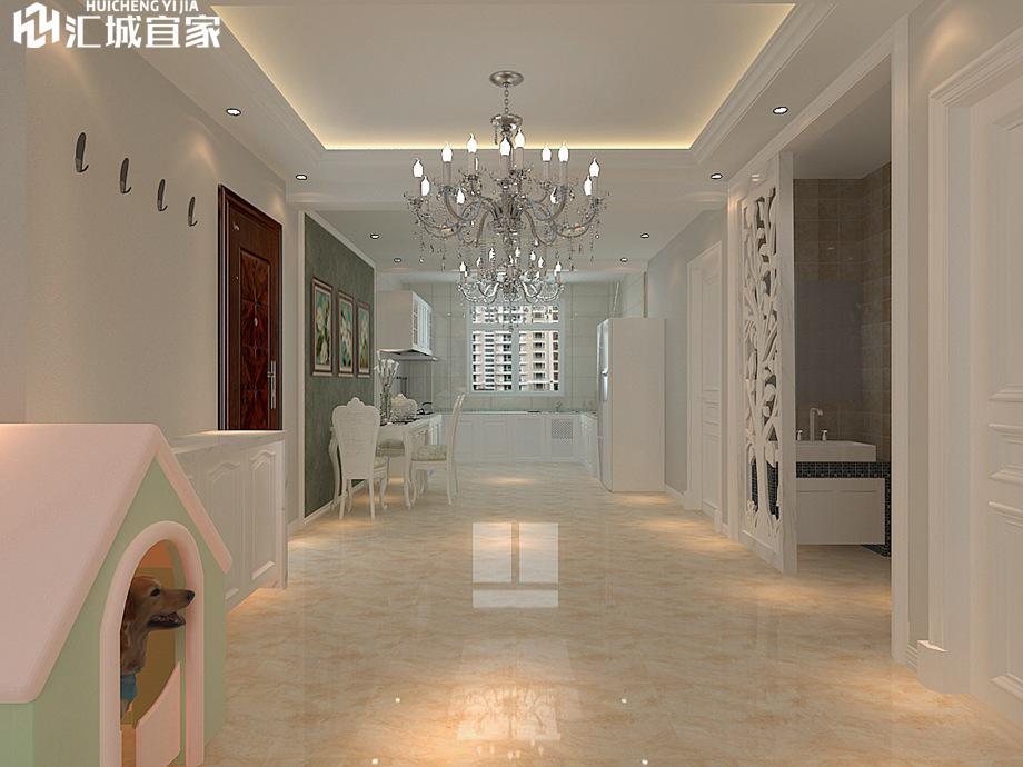 绵阳家装案例-瑞天阳光-简欧风格三居室110平米
