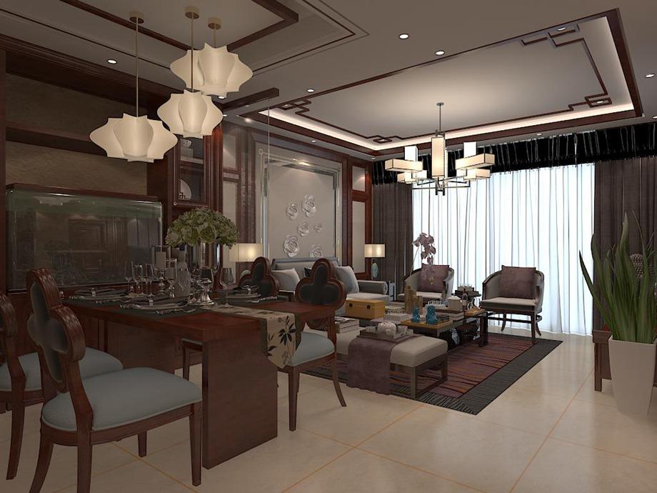 中式风格 四居室