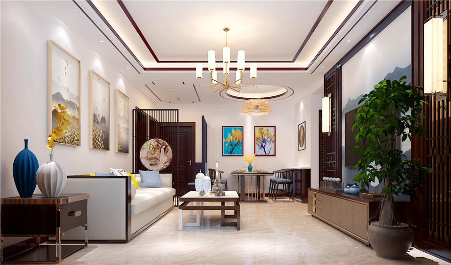 南通装修案例雅居乐13号楼-新中式风格 135平米