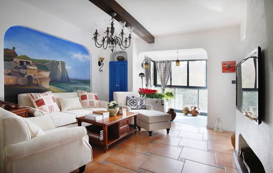 地中海风格 三室两厅