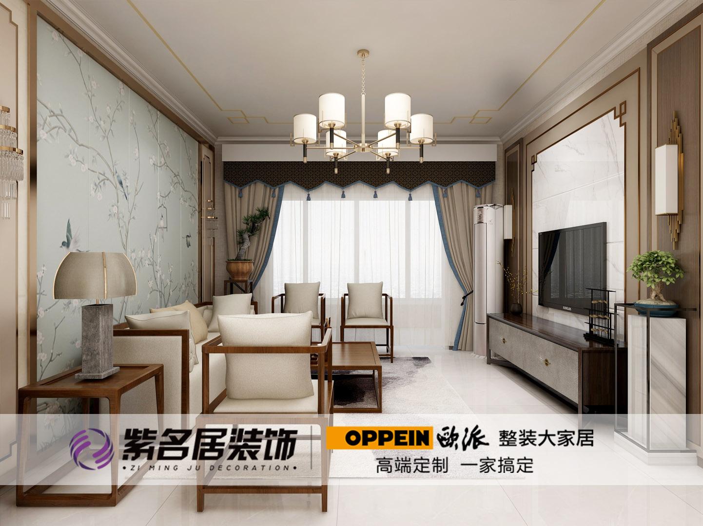 唐山装修案例吾悦广场 新中式,低调素雅