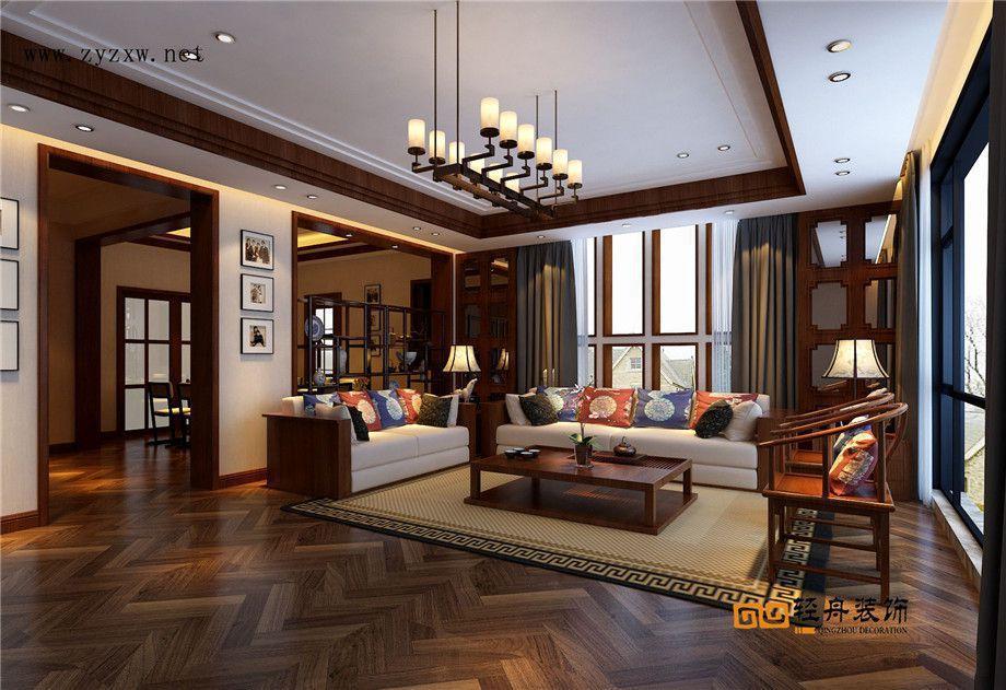 遵義裝修案例金科320平別墅中式風格案例