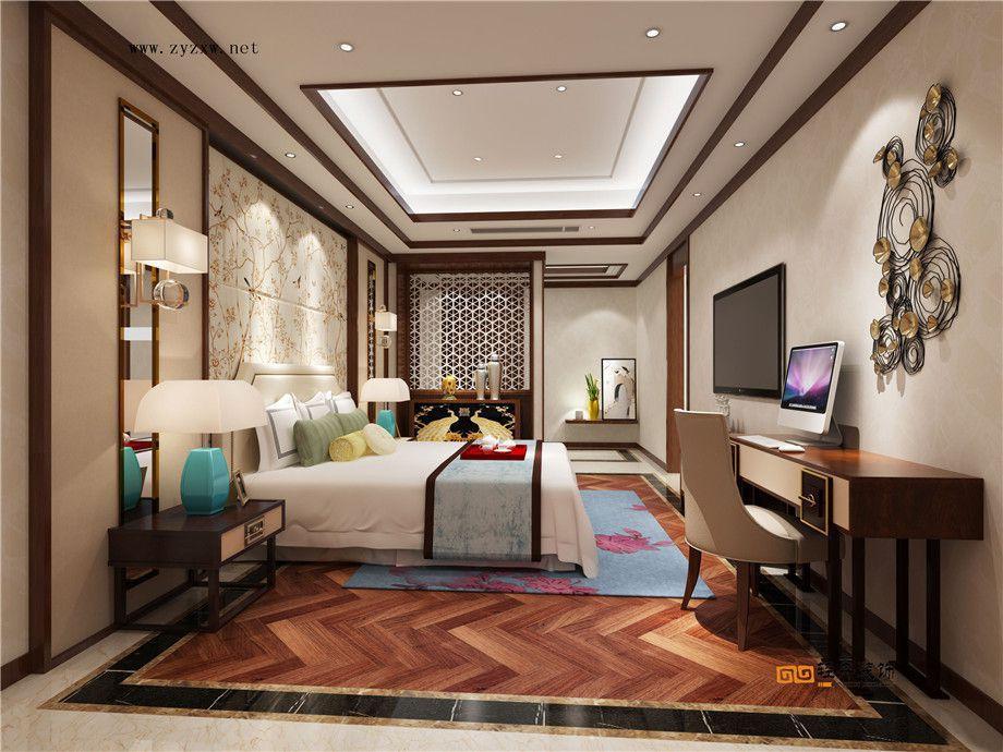 遵義裝修案例凱萊國際|別墅中式風格效果圖