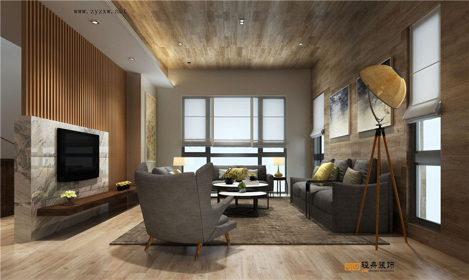遵義裝修案例港灣國際|310平別墅現代原木風格裝修案例