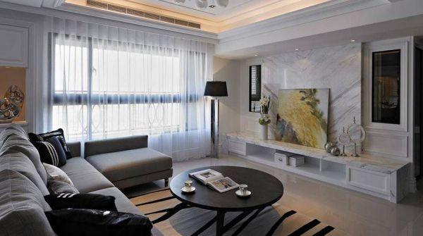 漳州装修设计师198坪米美式风格三居